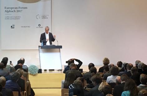 Michael Ignatieff bei seinem Vortrag in Alpbach
