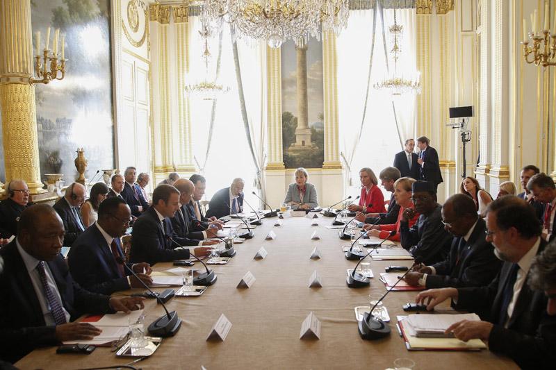 Europäische und afrikanische Regierungschefs