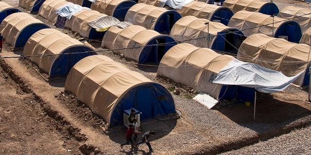 Flüchtlingslager in Mossul