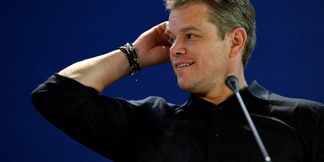 Matt Damon bei einer Pressekonferenz