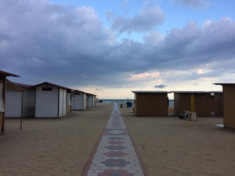 Strandkabinen in Venedig