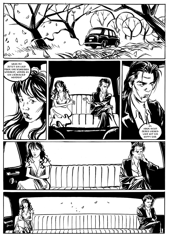 "Aus dem Comic ""Nick Cave, Mercy on me"""