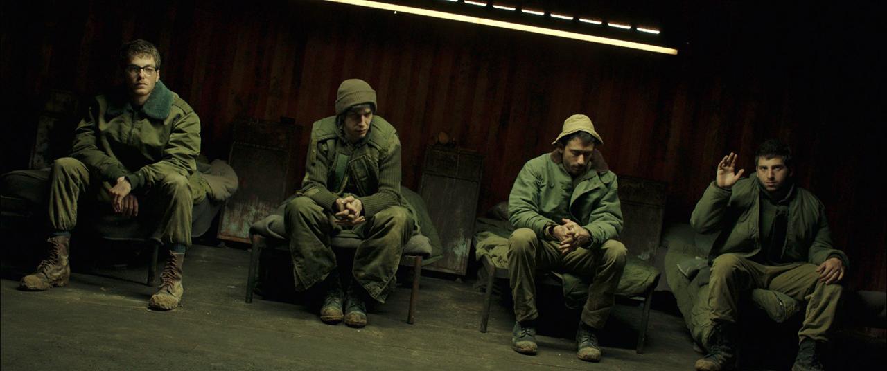 Eine Reihe Soldaten