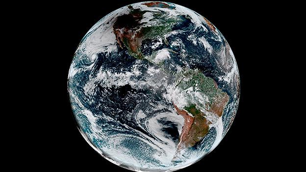 Die Erde aus dem Weltall fotografiert