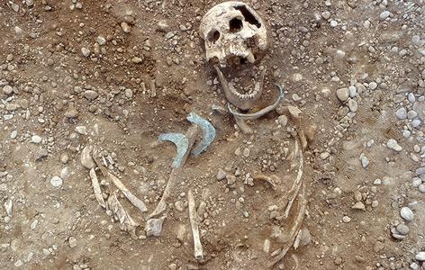 Eines der untersuchten Gräber im Lechtal in Augsburg