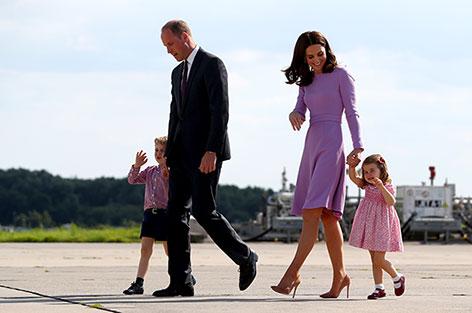 Kate und William mit ihren Kindern George und Charlotte