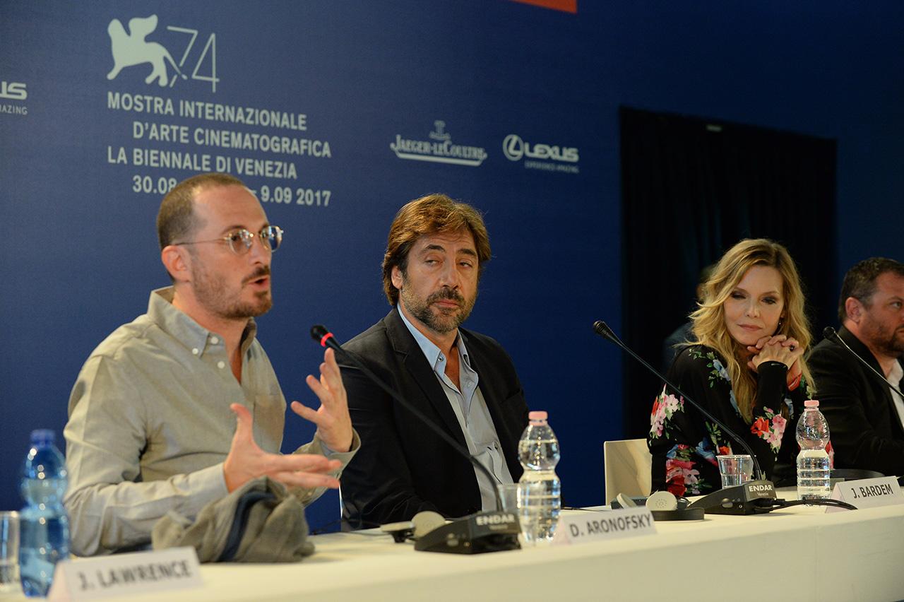 PK mit Darren Aronofsky, Javier Bardem und Michelle Pfeiffer