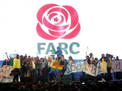 FARC bei Papst Kolumbien