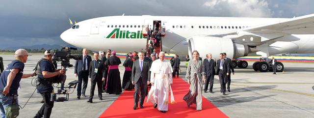 Papst in Bogota