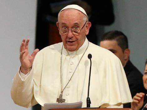 Papst Kolumbien Vortrag