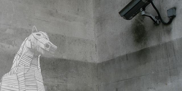 Eine Überwachungskamera filmt einen Polizeitrojaner