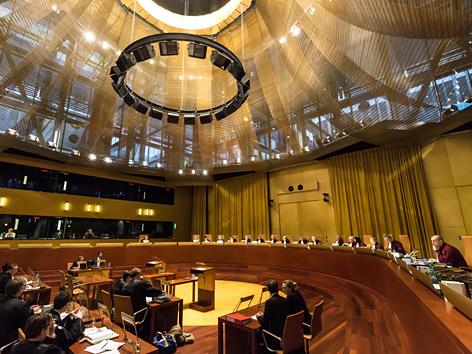 EuGH-Sitzung in der Großen Kammer