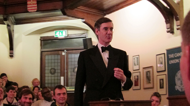 Jacob Rees-Mogg debating at Cambridge Union Society