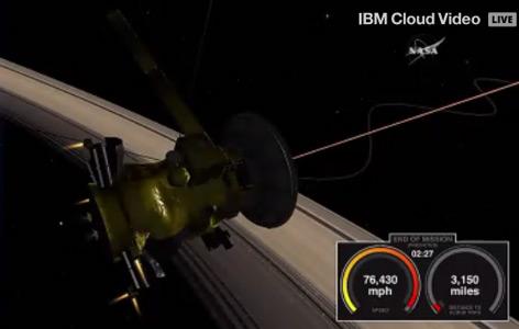 NASA-Illustration vom Countdown: 3.150 Meilen - wenige Sekunden - vor dem Verglühen