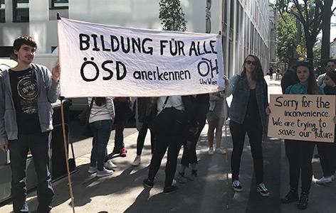 Die Protestkungebung der Studierenden