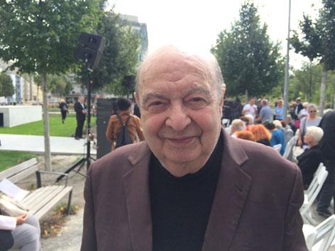 Aspangbahnhof Leon Zelman Platz Mahnmal Deportierte Rudolf Gelbard
