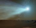 Künstlerische Darstellung: Komet in der Nähe des Mars