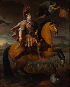 Ölbild des Polenkönigs Sobieski