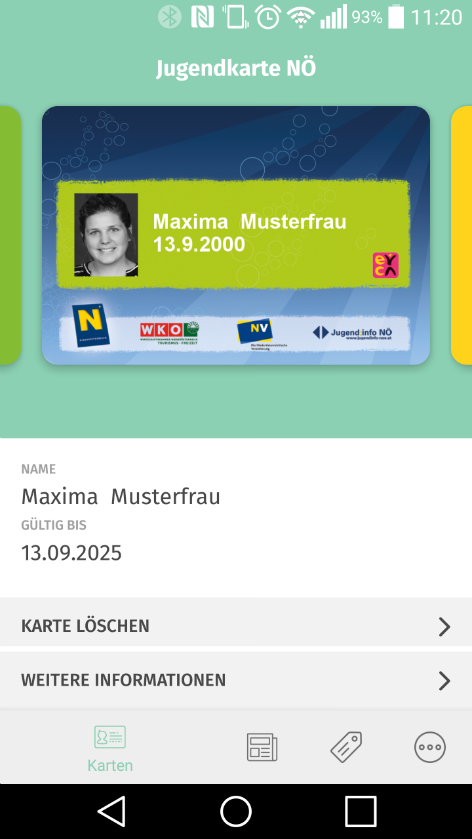 Screenshot Jugendapp NÖ