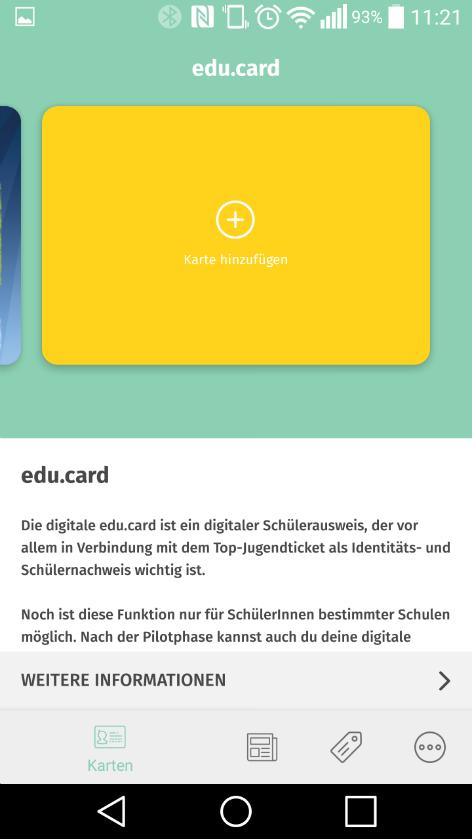 Screenshot Jugendapp NÖ