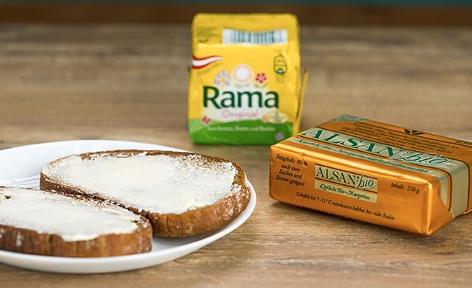 Rama und Alsan Margarine