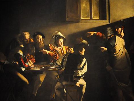 Caravaggio (1571-1610): Die Berufung des Matthäus (1599-1600)