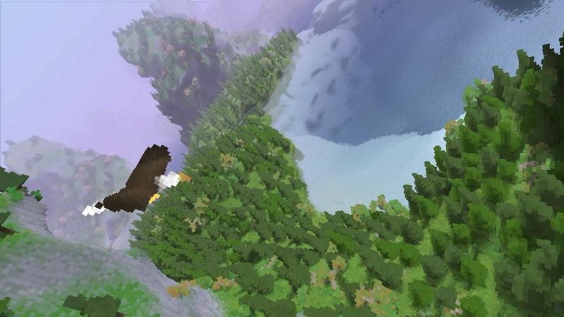 "Screenshots aus ""Fugl"": eine pixelige 3D-Landschaft"