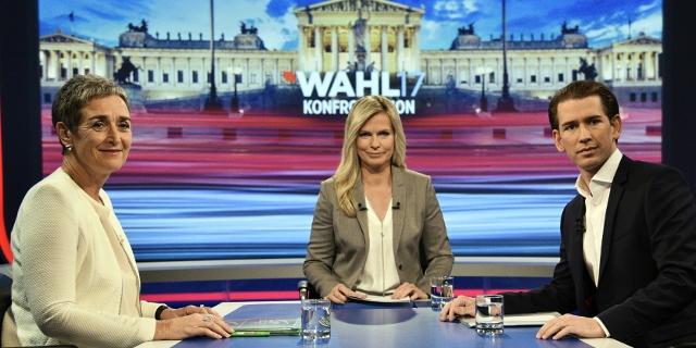 Foto Kurz und Lunacek im ORF Wahlduell