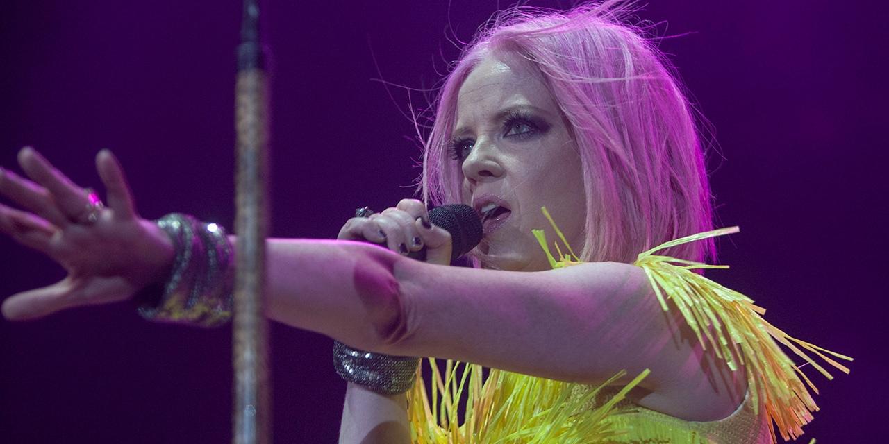 Shirley Manson bei einem Konzert