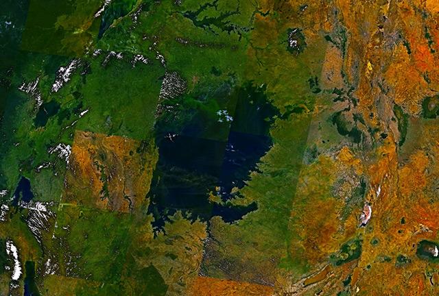 Satellitenbild: Victoriasee, Ostafrika