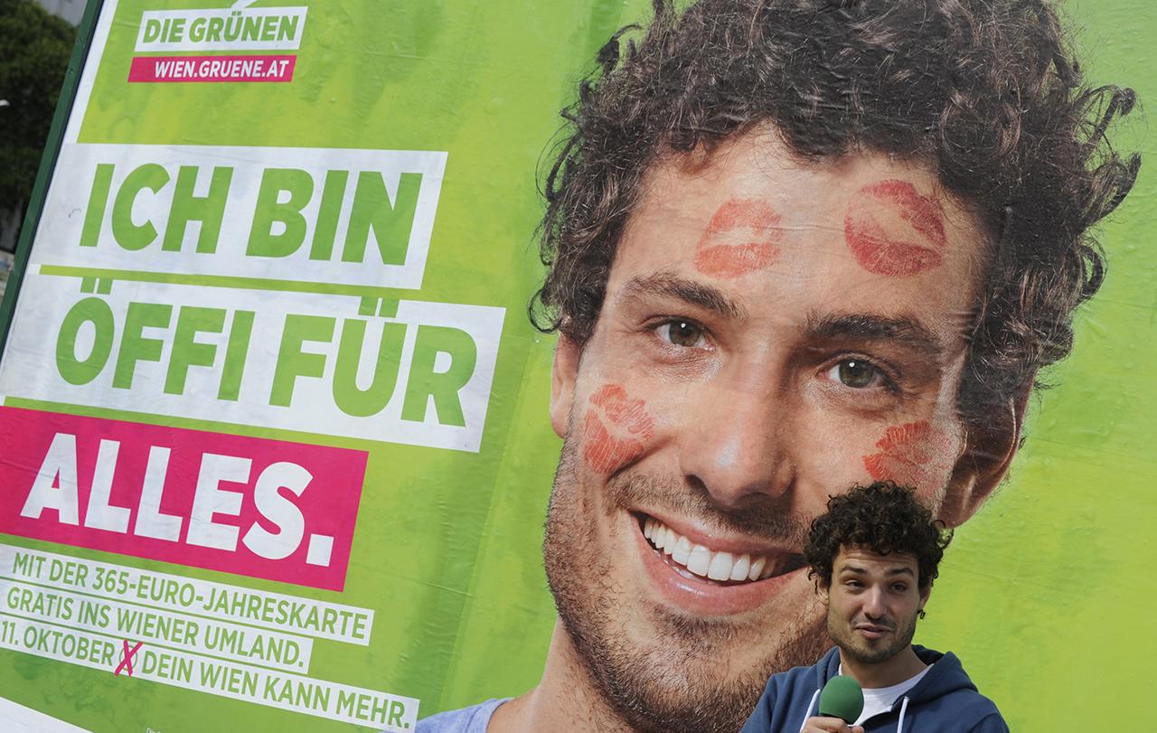Plakatkampagne mit Julian Schmid - Öffi für alles