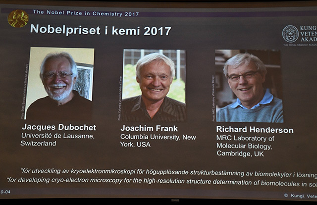 Jacques Dubochet, Joachim Frank und Richard Henderson