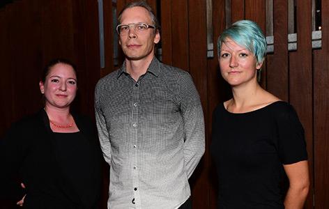 Die drei Preisträger: Sandra Eibenberger, Dietmar Offenhuber und Isabella Rauch