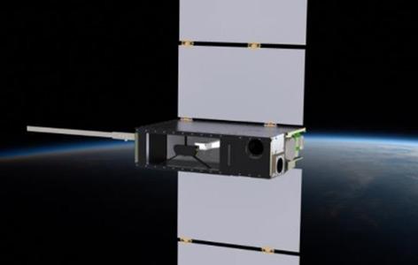 Künstlerische Darstellung des CUTE-Satelliten