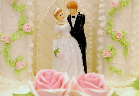 Eine Hochzeitsstorte