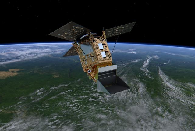 Sentinel-5P - künstlerische Darstellung