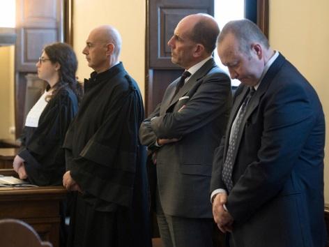 Giuseppe Profiti zweiter von rechts und Massimo Spina (rechts)