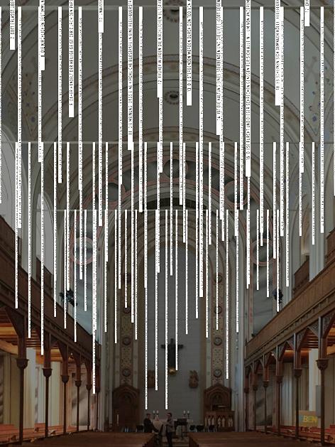 Die evangelische Gustav-Adolf-Kirche in Wien mit Rauminstallation