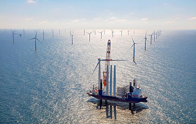 Windturbinen im Meer