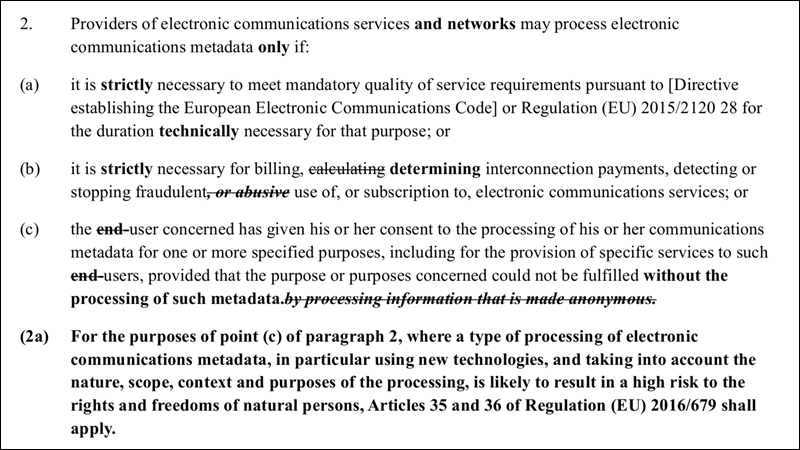 E-Privacy-Bestimmungen