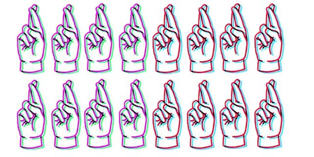 Illustration von gekreuzten Fingern