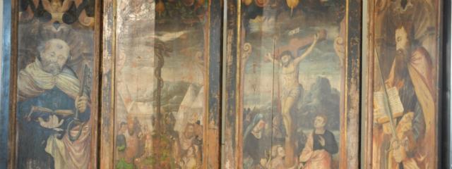 Flügelaltar mit mehreren Einzelbildern