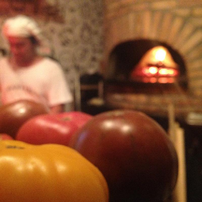 Pizzaofen und Pizzabäcker