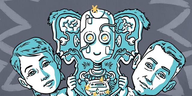 Grafik: Mensch und Roboter