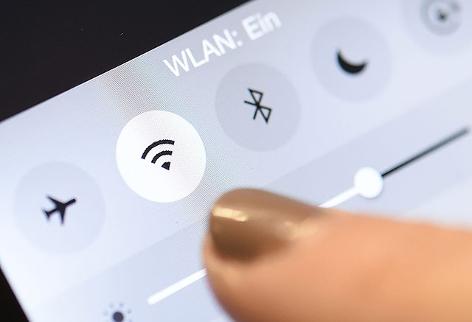 WLAN-Logo auf Smartphone