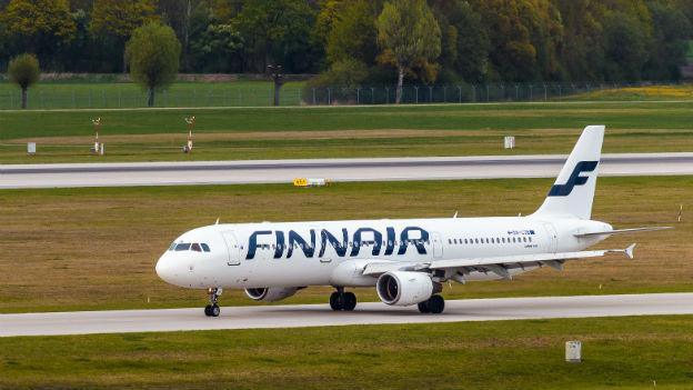 Finnair stellt Leute auf die Waage