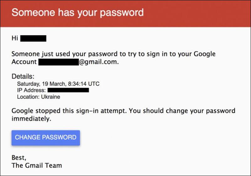 Login von gmail: Aufforderung, das Passwort zu ändern