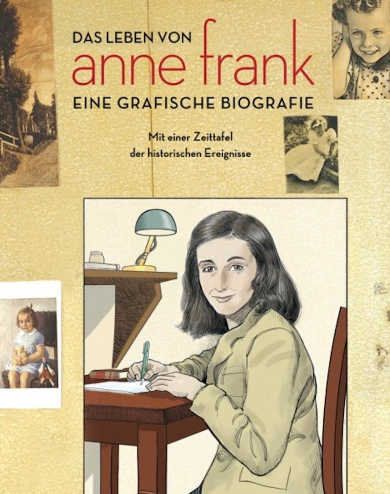 Titelseite der graphischen Biographie der Anne Frank