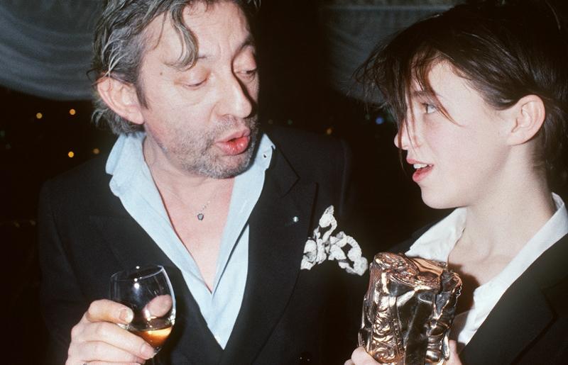 Serge und Charlotte Gainsbourg bei der Verleihung der Cèsars, 1986