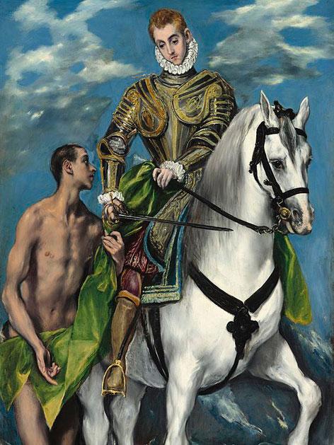 El Greco: Martin und der Bettler, um 1597 - 99